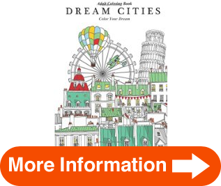 Adult Coloring Book Dream Cities Color Your Volume 2 Solutions ...